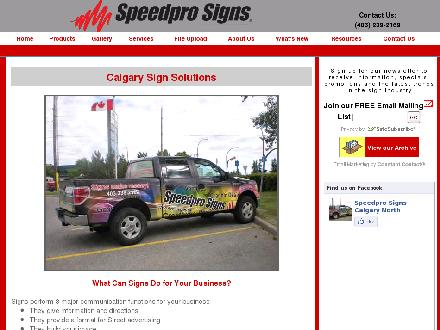 Speedpro Signs (403-239-2169) - Onglet de site Web - http://www.speedpronorth.com