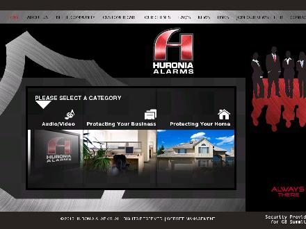 Huronia Alarm & Fire Security Inc (705-445-4444) - Website thumbnail - http://www.huroniaalarms.com
