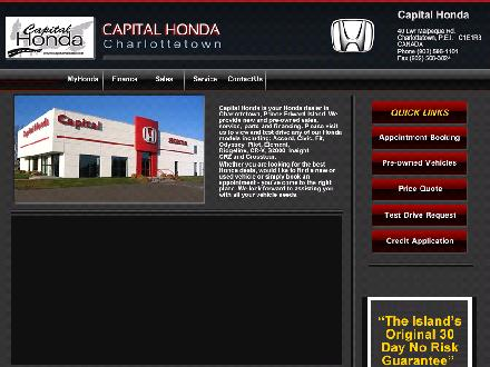 Capital Honda (902-566-1101) - Website thumbnail - http://www.capitalhonda.com/