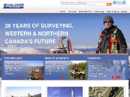Challenger Geomatics Ltd (403-253-8101) - Onglet de site Web - http://www.challengergeomatics.com