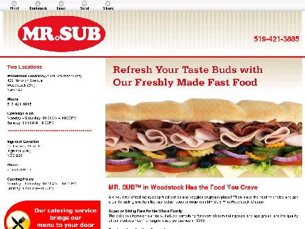 Mr Sub (519-421-3885) - Onglet de site Web - http://mrsubwoodstock.com