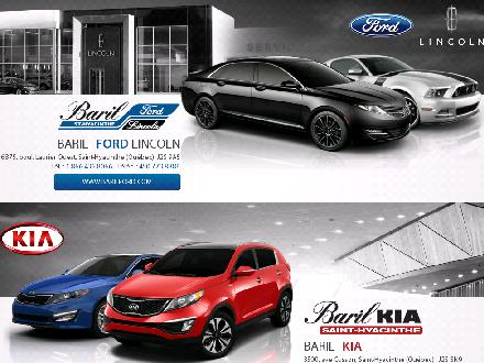Baril Ford Lincoln (1-855-830-5115) - Website thumbnail - http://www.groupebaril.com
