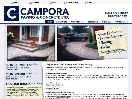 Campora Paving & Concrete Ltd (613-723-1572) - Onglet de site Web - http://camporapaving.ca