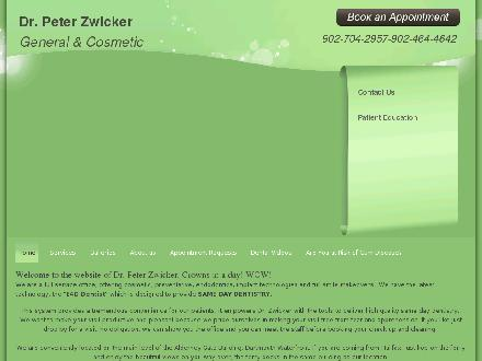 Dr. Peter Zwicker (902-704-2957) - Onglet de site Web - http://zwickerdental.com/