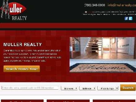 Muller Realty (780-349-0000) - Website thumbnail - http://mullerrealty.ca/