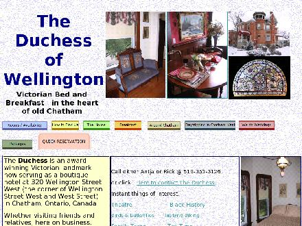 Duchess Of Wellington Bed & Breakfast (519-351-3126) - Onglet de site Web - http://www.theduchessofwellington.com