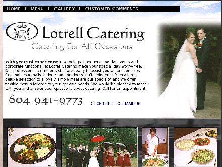 Lotrell Catering Co (604-941-9773) - Onglet de site Web - http://members.shaw.ca/lotrell/