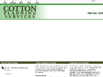 Cotton Planning Services (780-434-1423) - Website thumbnail - http://cottonplanning.ca/