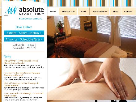 Absolute Massage Therapy (613-591-3444) - Onglet de site Web - http://www.absolutemassagetherapy.com