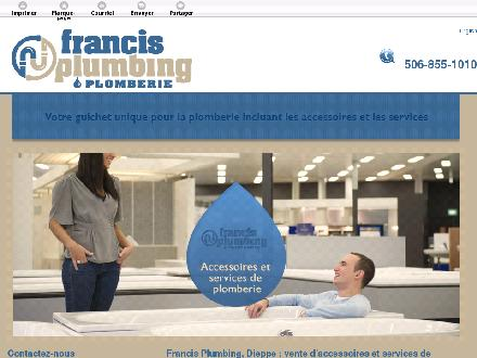Francis Plumbing & Heating (506-802-7844) - Website thumbnail - http://francisplumbling.ca/