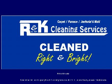 R &amp; K Cleaning Services (780-922-2133) - Onglet de site Web - http://www.randkcleaningservices.ca