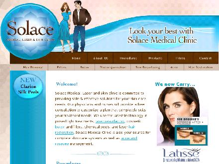 Solace Medical Clinic (780-419-3627) - Website thumbnail - http://www.solacemedicalclinic.com