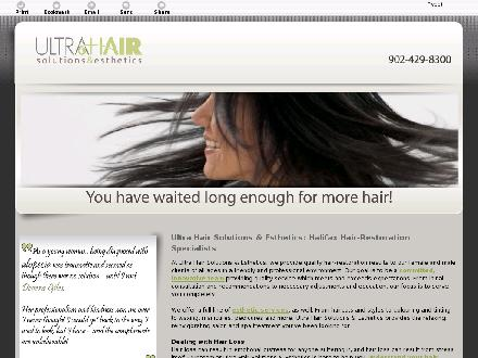 Ultra Hair Solutions & Esthetics (902-429-8300) - Onglet de site Web - http://ultrahair.biz/