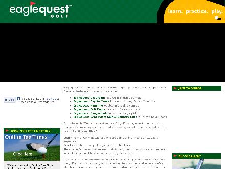 Eaglequest Golf Centre (604-523-6400) - Onglet de site Web - http://www.eaglequestgolf.com