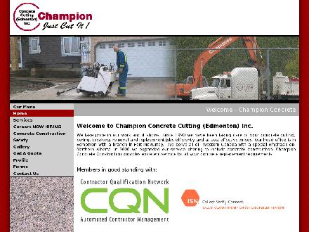 Champion Concrete Cutting & Coring Inc (780-412-1485) - Website thumbnail - http://www.champion-concrete.com