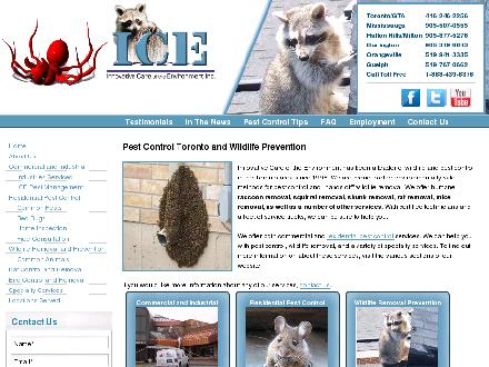 ICE Pest Control &amp; Wildlife (416-246-2256) - Onglet de site Web - http://www.icepest.com