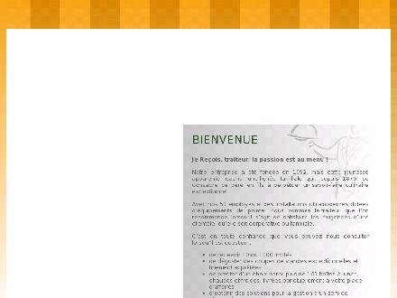 Je Re&ccedil;ois Traiteur (418-626-1010) - Onglet de site Web - http://www.buffetsjerecois.com