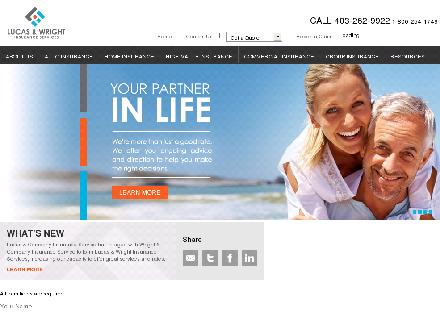 Lucas & Wright Insurance Services Inc (403-262-9922) - Onglet de site Web - http://www.lucasandwright.com