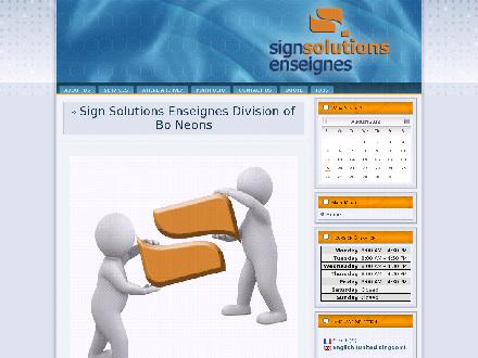 Sign Solutions Enseignes (506-802-7654) - Onglet de site Web - http://www.signsolutionsonline.ca
