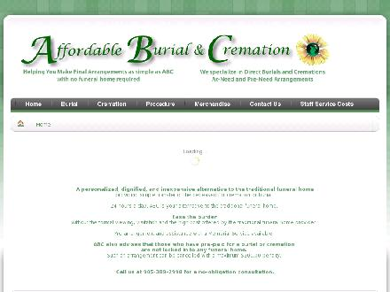 Affordable Burial & Cremation (905-389-2998) - Website thumbnail - http://www.affordableburialandcremation.ca