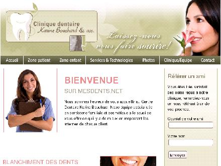Clinique Dentaire Karine Bouchard &amp; ass (418-871-7117) - Website thumbnail - http://www.mesdents.net