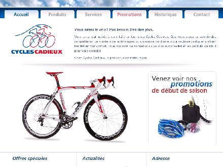 Cadieux Cycles (1-800-908-6951) - Onglet de site Web - http://www.cyclescadieux.ca