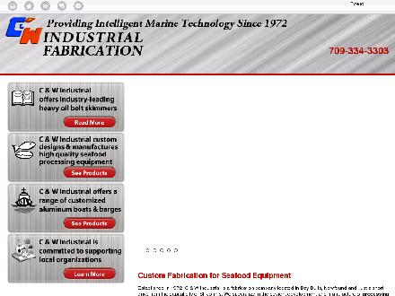 C And W Industrial Fabrication (709-334-3303) - Onglet de site Web - http://www.seafoodprocessingequipment.ca