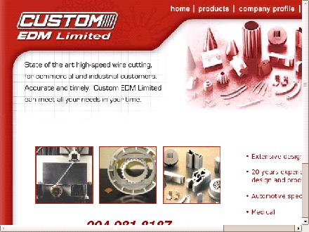 Custom EDM Limited (204-981-8187) - Onglet de site Web - http://www.customedm.ca