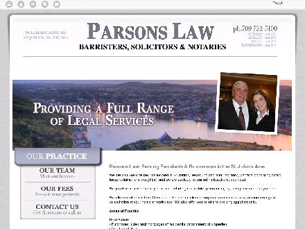 Parsons Law (709-722-5100) - Website thumbnail - http://parsons-law.ca/