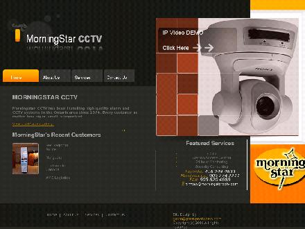 Morning Star CCTV Security Systems (905-274-2211) - Onglet de site Web - http://www.morningstarcctv.com