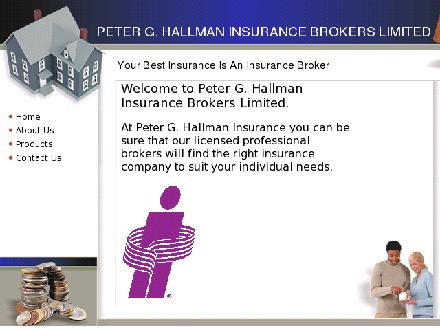 Hallman Peter G Insurance Brokers Ltd (226-318-0720) - Onglet de site Web - http://www.hallmanbrokers.ca