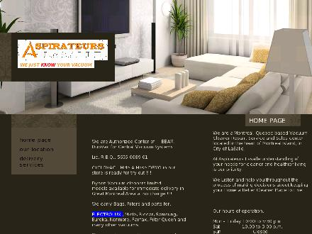 Aspirateurs Lasalle (514-364-2222) - Website thumbnail - http://www.aspirateurslasalle.com