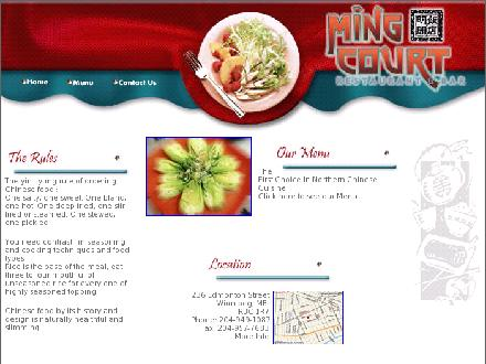 Ming Court Chinese Food (204-949-1087) - Onglet de site Web - http://www.mingcourt.ca