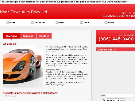 North Town Auto Body Ltd (306-445-0400) - Onglet de site Web - http://northtownautobody.ca