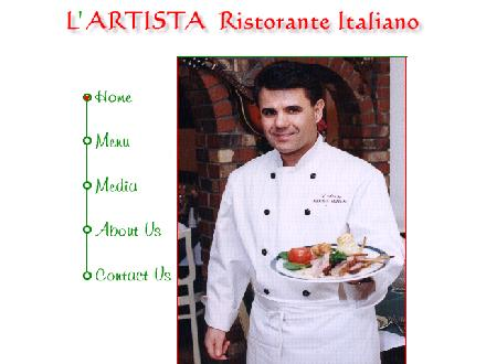 L'Artista Italian Restaurant (604-298-8110) - Website thumbnail - http://www.lartistarestaurant.com
