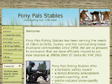 Pony Pals Riding Stables Ltd (604-590-0097) - Onglet de site Web - http://www.ponypalsstables.com/