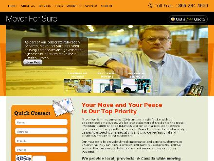 Mover For Sure Inc (780-613-0229) - Website thumbnail - http://www.moverforsure.com