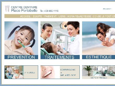 Centre Dentaire Place Portobello (450-466-1116) - Onglet de site Web - http://www.dentiste-placeportobello.com