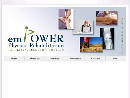 Empower Physical Rehabilitation Inc (902-865-8100) - Onglet de site Web - http://www.empowerrehab.ca