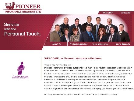 Pioneer Insurance (519-744-4481) - Website thumbnail - http://www.pionins.com