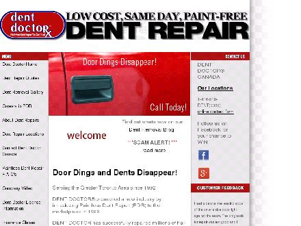 Dent Doctor Paintless Dent Removal (416-518-3368) - Onglet de site Web - http://www.dentdoctorcanada.com