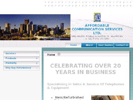 Affordable Communication Services Ltd (403-230-9473) - Onglet de site Web - http://www.affordablecommunications.ca
