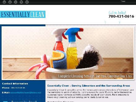 Essentially Clean (780-431-0616) - Website thumbnail - http://essentiallyclean.net/