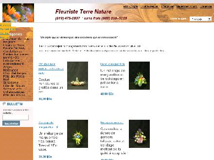 Terre Nature Inc (819-479-0837) - Onglet de site Web - http://www.fleuristeterrenature.com