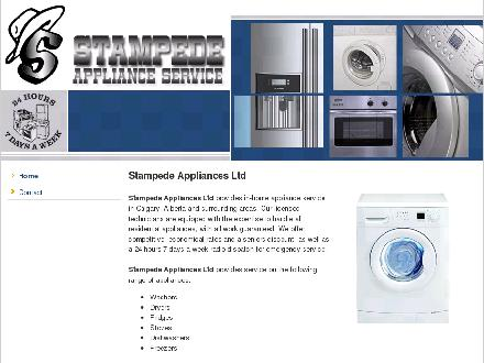 Stampede Appliances Ltd (403-569-9965) - Onglet de site Web - http://www.stampedeappliances.com