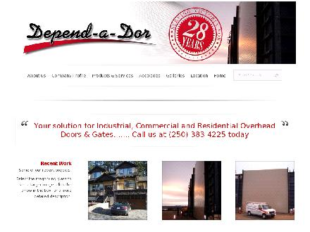 Depend-A-Dor Repairs &amp; Installation Ltd (250-383-4225) - Onglet de site Web - http://www.depend-a-dor.ca