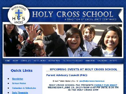 Holy Cross (RC) School (204-237-4936) - Onglet de site Web - http://www.holycrossschool.mb.ca