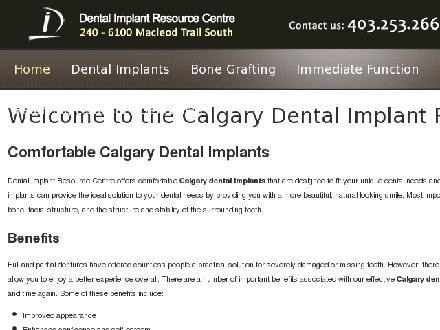 Dental Implant Resource Centre (403-817-0902) - Onglet de site Web - http://www.implantresource.net