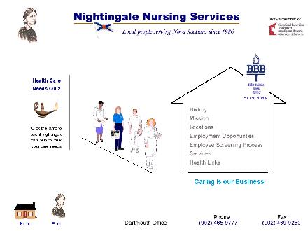 Nightingale Nursing Services (902-702-2081) - Onglet de site Web - http://www.nightingalenursingns.com/