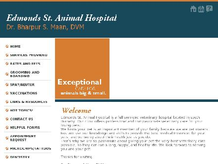 Edmonds St Animal Hospital (604-540-7387) - Website thumbnail - http://www.edmondsanimalhospital.com